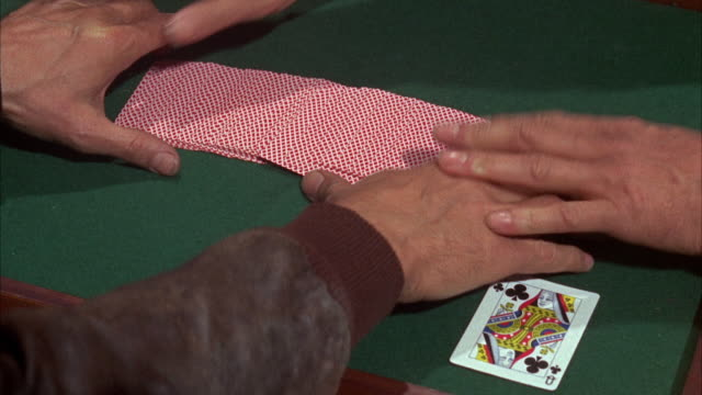 1960s cu deck of cards spread out on table - magic trick stock videos & royalty-free footage
