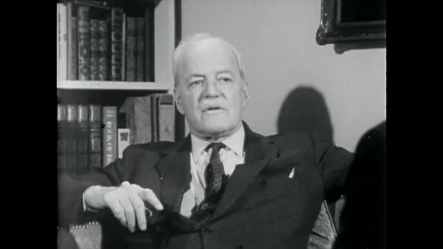 declassified old cia film where allen dulles defines 'intelligence' in an interview. allen welsh dulles was an american diplomat and lawyer who... - intelligence stock videos & royalty-free footage