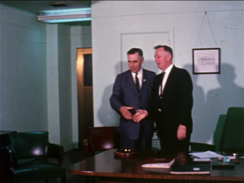 1960s group of businessmen shaking hands with man in conference room - businessman stock videos & royalty-free footage