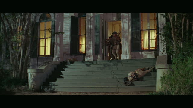 1960s ws group of viet cong soldiers rushing out of house and shooting - front stoop stock videos and b-roll footage