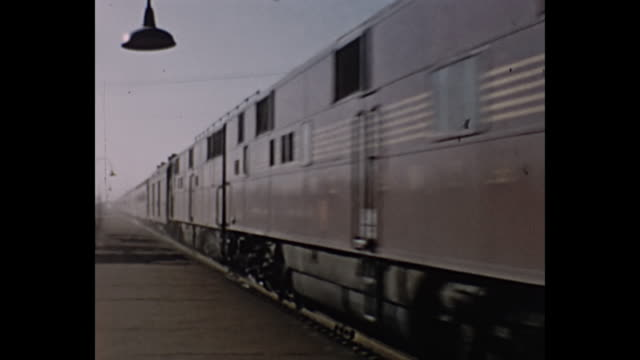 1960s Home Movie - Passanger train arrives at station