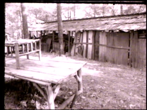laurel falls camp vs various abandoned houses barns huts of laurel falls camp no people in forest blue ridge mountains clayton georgia ga camp for... - appalachia stock videos & royalty-free footage