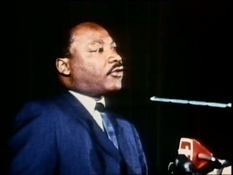 1960s medium shot martin luther king jr speaking - martin luther king stock videos and b-roll footage