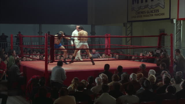 1960s ws men fighting in boxing ring - boxing ring stock videos & royalty-free footage