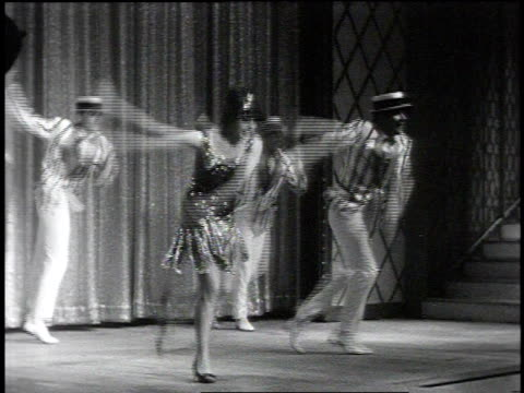 vidéos et rushes de 1960s montage dancers performing the charleston and a russian dance at the tropicana / las vegas, nevada, united states - charleston