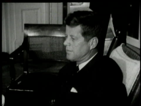 1960s montage john f. kennedy meeting with other politicians / washington, district of columbia, united states - other stock videos & royalty-free footage