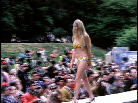 1960s outdoor beauty contest, san francisco, california, usa - straight hair stock videos & royalty-free footage