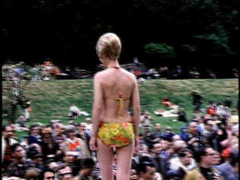 1960s ms outdoor beauty contest san francisco california usa - wettbewerb unterhaltungsveranstaltung stock-videos und b-roll-filmmaterial