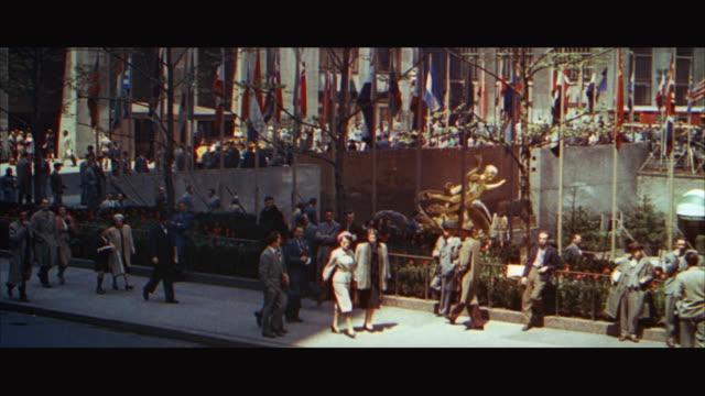 1960s WS People on sidewalk / New York City, USA