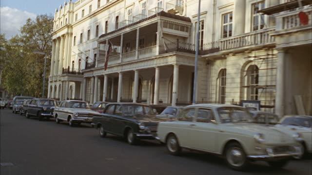 1960s ws rear pov street traffic / london, uk - 1960 bildbanksvideor och videomaterial från bakom kulisserna