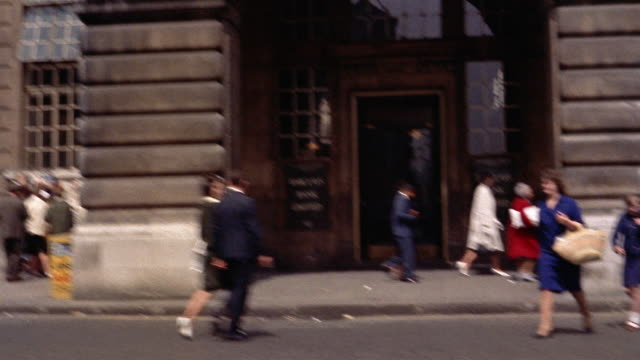 stockvideo's en b-roll-footage met 1960s side car point of view streets in piccadilly circus / london, england - 1965