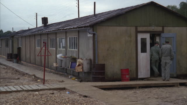 1960s WS Soldiers entering barracks