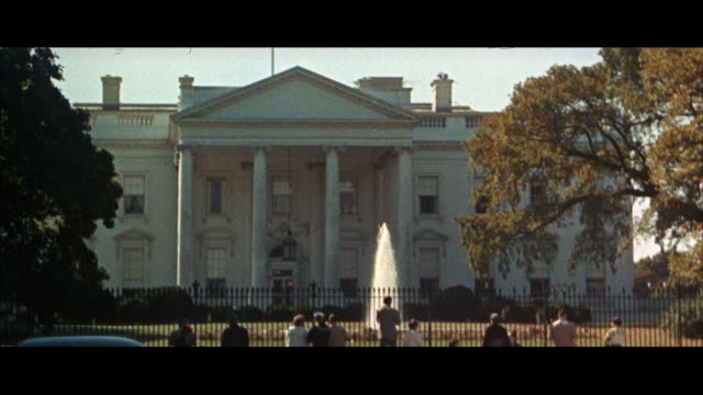 1960s ms tourists in front of white house / washington dc, usa - white house washington dc stock videos and b-roll footage