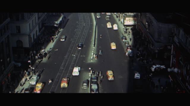 1960s WS HA TU Traffic in Times Square / New York City, USA