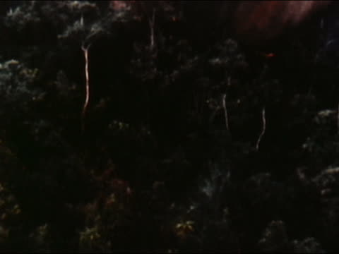 1970s aerial over treetops / napalm bombs exploding into flames / audio / vietnam - vietnam war stock videos & royalty-free footage