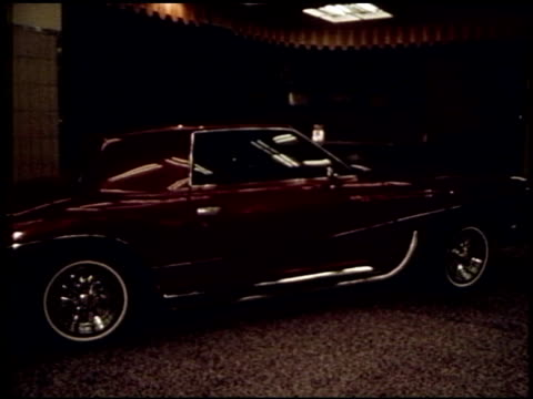 1970s auto show on june 01, 1971 in new york, new york - シボレー点の映像素材/bロール