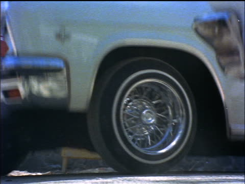 1970s close up cars with hydraulics bouncing outdoors / los angeles / educational - bouncing stock videos & royalty-free footage