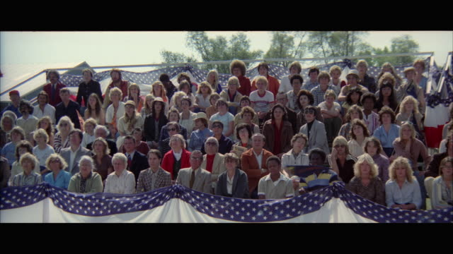 1970s ws crowd in bleachers - 1970 1979 stock videos & royalty-free footage