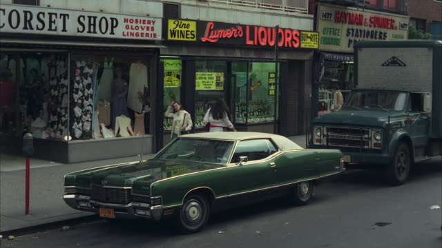 1970s WS Driving north on 3rd Avenue  / New York City, USA