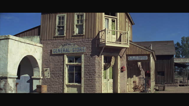 1970s ws general store in western town - wild west stock videos & royalty-free footage