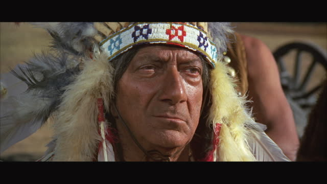1970s cu zo ms indian chief with group - indigenous north american culture stock videos and b-roll footage