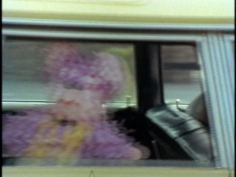 vídeos de stock, filmes e b-roll de 1970s montage family in station wagon with pinata and man on chopper, los angeles, california, usa, audio - cultura mexicana