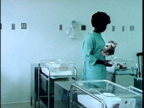 1970s montage maternity ward, los angeles, california, usa, audio - 1975 stock videos and b-roll footage