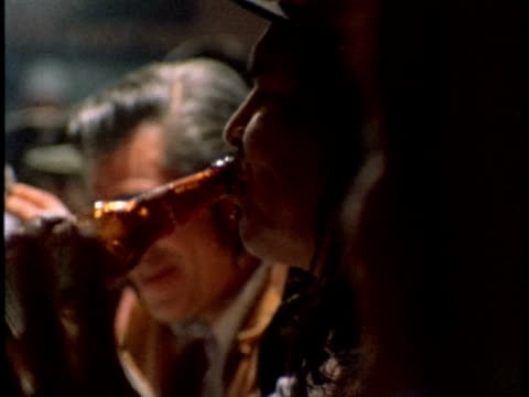 vidéos et rushes de 1970s montage people in bar, los angeles, usa, california, audio - bar