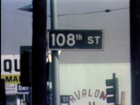 1970s montage street scenes / los angeles, california / audio - anno 1975 video stock e b–roll