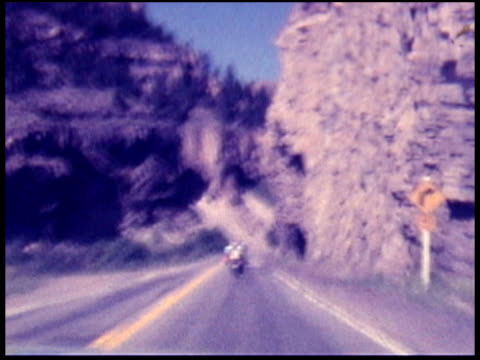 1970s north america: motorbike / motorcycle (8mm film) - colorado stock videos & royalty-free footage