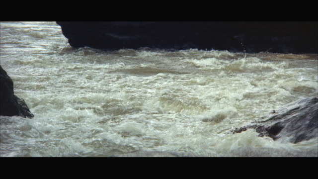 1970s ws river rapids - 1970 1979 stock videos & royalty-free footage