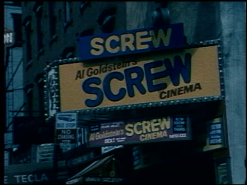 1970s seedy porn theaters at times square on june 01 1971 in new york new york - pornographic movie stock videos and b-roll footage