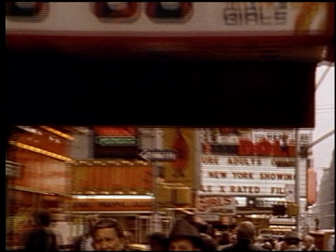 1970s Seedy Porn Theaters at Times Square on June 01 1971 in New York New York