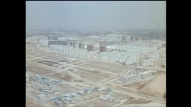 stockvideo's en b-roll-footage met 1971,tama new town,aerial - breedbeeldformaat