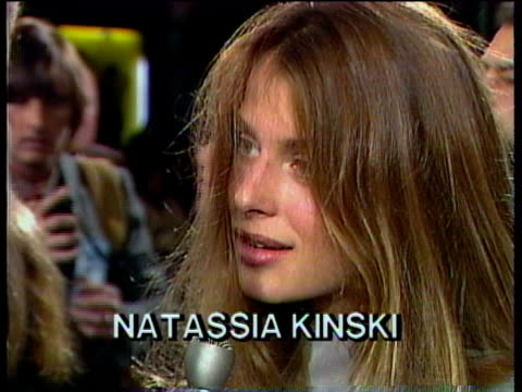 1980s cu celebrities at premiere nastassja kinski being interviewed / los angeles california usa / audio - fame stock videos & royalty-free footage