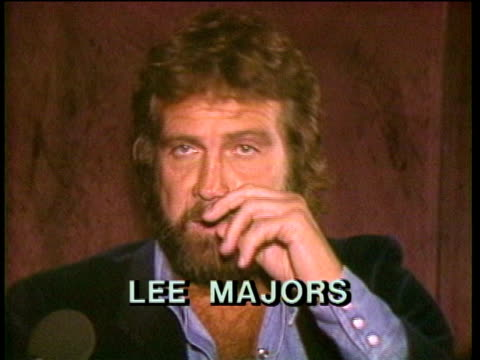 1980s ms zi zo cu lee majors being interviewed / los angeles california usa / audio - lee majors stock videos and b-roll footage