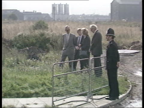 part 2 T16098701 1691987 Prime Minister Margaret Thatcher begins in Teeside Thatcher arrival changes shoes being shown round industrial wasteland...