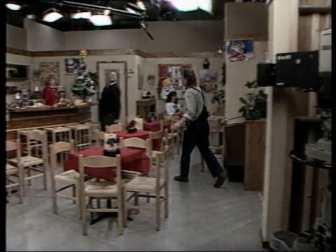 1980s lifestyle collection: part 3; t04118809: 4.11.1988 neighbours: the australian soap opera being shot in melbourne studio - soap opera stock videos & royalty-free footage