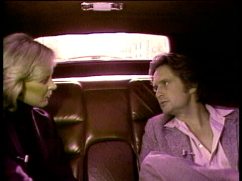 1980s michael douglas being interviewed in limousine / los angeles, california, usa / audio - michael douglas stock videos & royalty-free footage