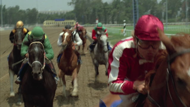 1980s rear pov ms horse race - horse racing stock videos & royalty-free footage