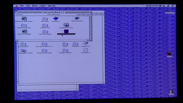 1990s macintosh desktop computer and screen - 1995 stock-videos und b-roll-filmmaterial