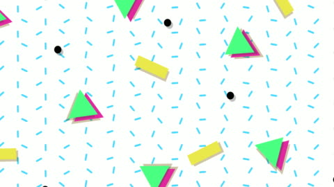 1990s style animated background pattern - geometric stock videos & royalty-free footage