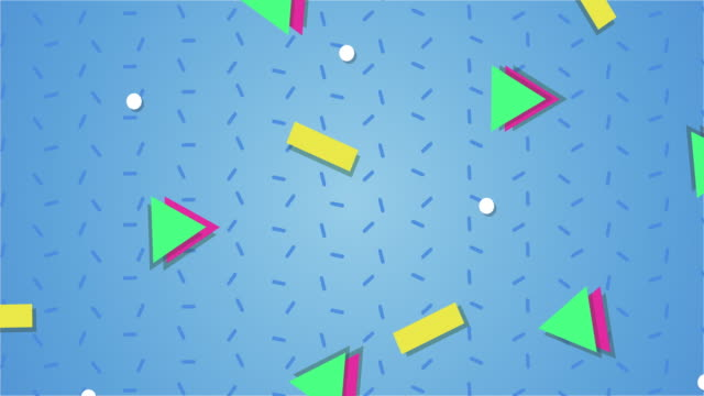 1990s style animated background pattern - funky stock videos & royalty-free footage