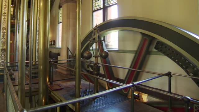 19th century pumping wheel papplewick pumping station - pumping station stock videos & royalty-free footage