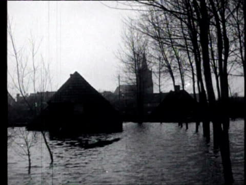 1feb1926 b/w montage flooding in maastricht houses stand in the water food is distributed / maastricht limburg netherlands - 1926 stock videos & royalty-free footage