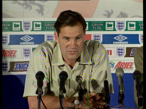 1Jul1998 MONTAGE Glenn Hoddle press conference on Beckham being sent off / AUDIO