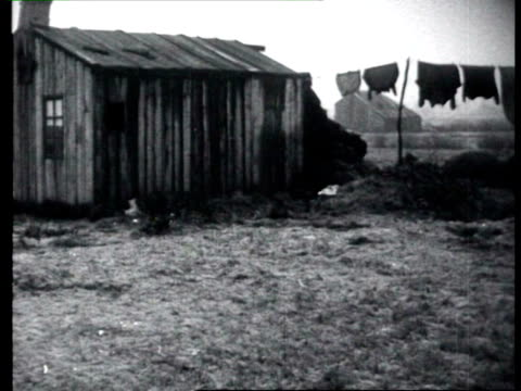 nov-1927 b/w montage slum dwellings and poverty / netherlands - 1927 stock videos & royalty-free footage
