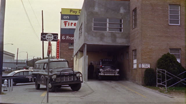 1959 ws 1st district police station, police cars, new orleans, louisiana, usa - 1959 stock videos & royalty-free footage
