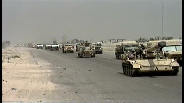 1st infantry division moving into iraq - natural land state stock videos & royalty-free footage
