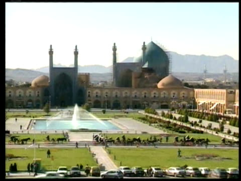 1st march 2000 ws ha zo shah abass square / ispahan, ispahan, iran - iran stock videos and b-roll footage